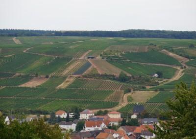 Blick über den Ort zum Sonnenberg