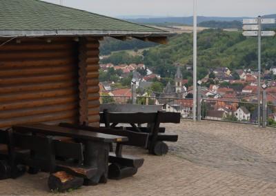 Blick von der Sonnenberghütte auf Guldental
