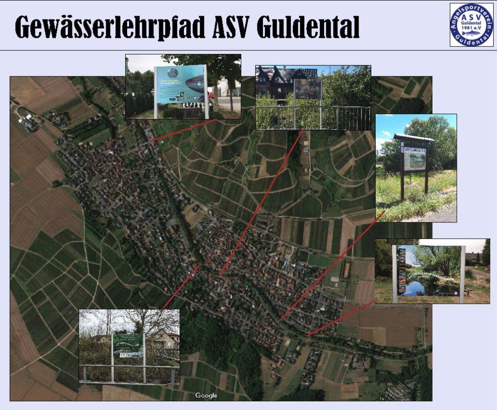 Übersichtskarte Guldentaler Gewässerlehrpfad